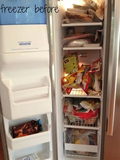 Ordinaire Sweeter Still: Food Storage Revamp. Side By Side Fridge Organization