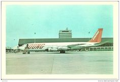 YOUNG CARGO BOEING 707 AT AMSTERDAM 1977. (AIR - 1946-....: Ere Moderne