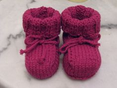 How To Knit Up Stitches On Booties : Craft on Pinterest Baby Booties, Knitting Tutorials and Finger Knitting