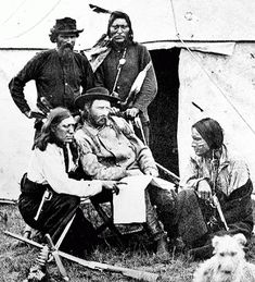 Custer and indian scouts