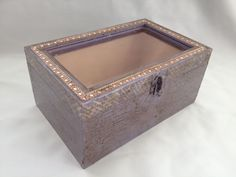 Vintage purple chest with glass cover :D