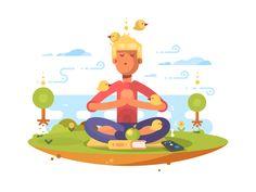 Meditation by Anton Fritsler (kit8) #Design Popular #Dribbble #shots