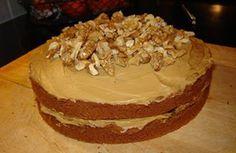 Keith's Coffee and Walnut cake birthday 2012