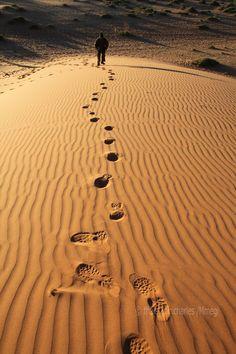 Behind my footsteps, Kgalagadi Desert, Botswana