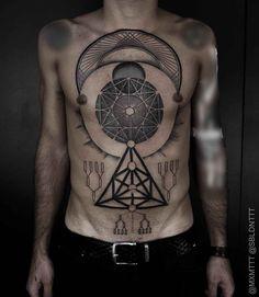 geometric tattoos on body