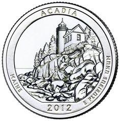 2012-D US Uncirculated Acadia Quarter