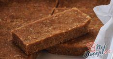 FITNESS nepečené tyčinky ze 4 surovin | NejRecept.cz Banana Bread, Vegan, Cooking, Food, Kitchen, Essen, Meals, Vegans, Yemek