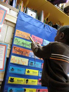 Morning chart shared reading Takoma Park, Shared Reading, Nursery School, Circle Time, School Photos, Grade 1, Teacher Stuff, Language Arts, Teaching Ideas
