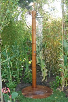 Bamboo outdoor shower.