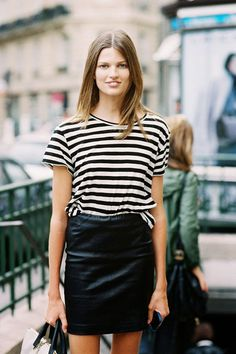 Stripes are a classy way to keep chic on the weekends