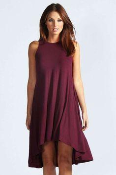 Amanda Sleeveless Dip Back Swing Dress