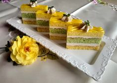 (1) Citromos mentás pudingos szelet | Izabela Ráczová receptje - Cookpad receptek Izu, Vanilla Cake, Cheesecake, Treats, Cooking, Sweet, Food, Cook Books, Anna
