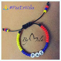 Un pedido muy #especial 💛💙❤️ .... por la #libertad en #venezuela #lejosperonoausente 🇻🇪❤️ #pulsera #letras #paz #bandera #ByMila Wire Jewelry, Jewelry Bracelets, Friendship Bracelets, Jewerly, Beaded Necklace, Crafts, Ideas, Bracelets, Ear Rings