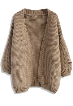 Dress like every day's a holiday! Keep it chic and cozy in this tan cardigan that serves up girl-next-door vibes and just needs a bombshell to give it cover girl potential.  - Open front - Ribbed cuffs and hemline - Fabric provides stretch - 100% Polyester - Hand wash  Size(cm) Length  Bust  Shoulder  Sleeves S/M      75    Free    40      52 Size(inch) Length  Bust  Shoulder  Sleeves S/M      29.5   Free    15.5     20.5  * S/M fits for US2-6…