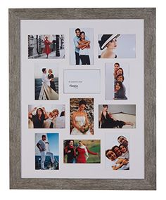 Janeiro Multi Aperture Luxury Photo Frame finished in two attractive colours. 45mm Profile and 12 or 15 4x6 Apertures within the bevel cut mount, non-glass fitted, wall hanging (Light Grey, 12 4x6 Apertures) Hampton Frames http://www.amazon.co.uk/dp/B00TQVX51K/ref=cm_sw_r_pi_dp_SxY7vb0F0HQPZ