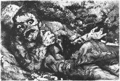 Otto Dix, Le soldat blessé (1924)