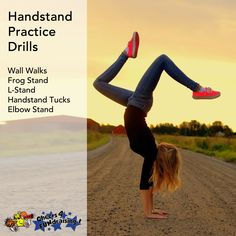 Looking to ramp up your handstand game? Try some of these practice drills! #protip