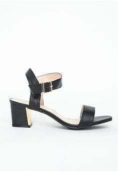 9dc6ac147a6 Missguided Low block heeled sandals black