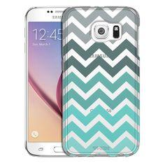 Samsung Galaxy S6 Chevron Grey Green Turquoise Case
