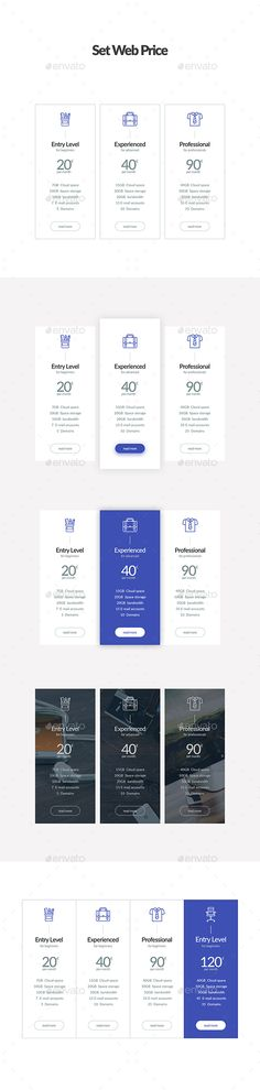 Set Web Price Template PSD. Download here: https://graphicriver.net/item/set-web-price/17340039?ref=ksioks