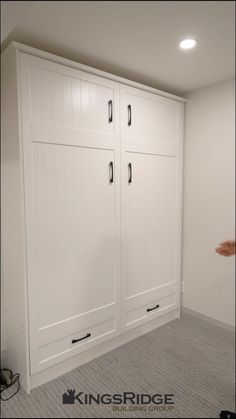 White modern murphy bed. Easy to handle and functional to use in any space. Wall Wardrobe Design, Wardrobe Bed, Bedroom Built In Wardrobe, Sofa Bed Design, Bedroom Bed Design, Modern Bedroom, Diy Bedroom Decor, Small House Interior Design, Interior Design Kitchen