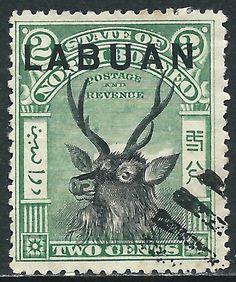Labuan, Scott #74, 2c Green & Black, Used