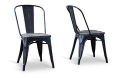 Baxton Studio Bistro Chair in Black - Set of 2