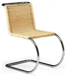 Mies van der Rohe, designer of this Cantilever Cane Chair, is generally recognized as one of the founding fathers of Modernism, and the most purist of Modern architects.