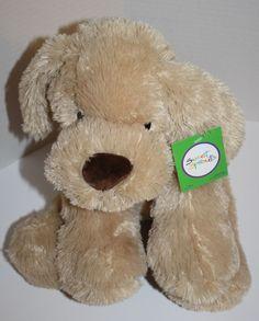 "Sweet Sprouts plush Dog Beige Tan light Brown Nose stuffed animal soft toy 15"" #AnimalAdventure #SweetSprouts #PlushDoy #SoftToy #StuffedAnimal #LabDog"