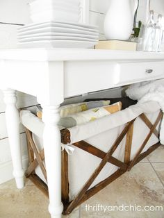 #DIY Pottery Barn Wood & Canvas Crate