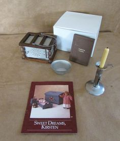 Kirsten Pleasant Company Nighttime Necessities book complete American Girl Doll #HousesFurniture