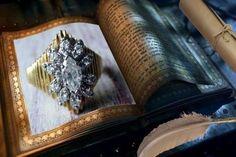 14k Estate Retro Marquise Multi Diamond Ring