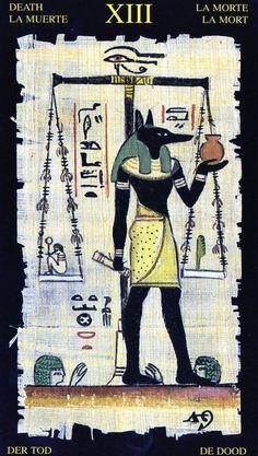 Tarot Card Death | By: Silvana Alasia Egyptian Tarot, Lo Scarabeo, 2003.