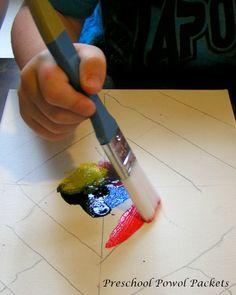 Kandinsky-Inspired Diamond Painting Color Studies with Kids!