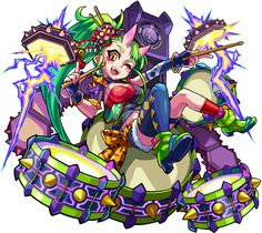 NO.1134一�戻橋�鬼 茨木童� Character Concept, Character Design, Monster Strike, Ares, Chibi, Drawings, Artwork, Anime, Inspiration