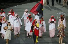Angola's Flag Bearer at the Opening Ceremonies of the 2012 London Olympic Games #London2012