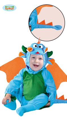 Vauva+Lohikäärme Toddler Costumes, Halloween Costumes For Kids, Baby Dragon Costume, Dragon Face, Green Bodysuit, Little Dragon, Halloween Disfraces, Baby Blue, Smurfs