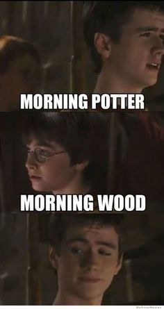 morning memes | Morning potter… morning wood