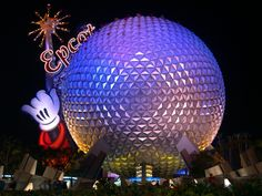 Epcot Center-taken the history of the world ride in this sphere about 500 times. Never gets old.