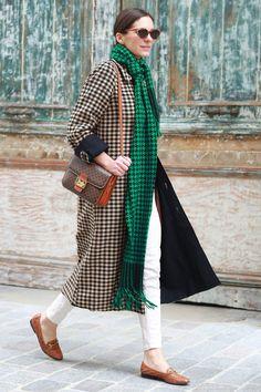 street style: Paris Fashion Week Fall 2014... Why borrowing from the boys looks so good on us girls. Source: Tim Regas