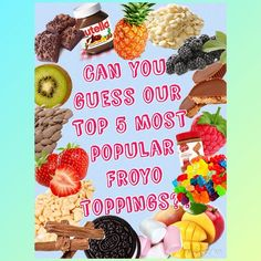 Can you guess our Top 5 most popular toppings? Comment below going from most popular down. #froyouk #frozenyogurt #theyogbar #summer #toppings #guessinggame by theyogbar