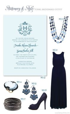 Stationery & Style: Tonal Bridesmaid Outfit