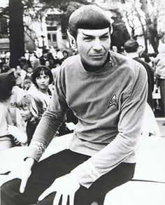 the only time he appeared in public as spock. (1967-ish)
