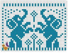 Elephant Cross Stitch, Crochet Elephant, Elephant Pattern, Cross Stitch Bird, Cross Stitch Borders, Cross Stitch Charts, Cross Stitch Designs, Cross Stitch Patterns, Filet Crochet Charts