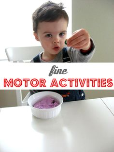 Easy Fine Motor Activities for young kids . #ECE