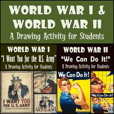 "World War I & World War II - Uncle Sam and Rosie the Riveter. The ""I Want…"