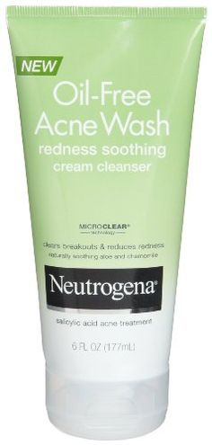 Neutrogena OilFree Acne Wash Redness Soothing Cream Cleanser 6 Ounce Pack of 2 -- Want to know more, click on the image. (Note:Amazon affiliate link)