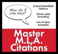 MLA Works Cited Lecture