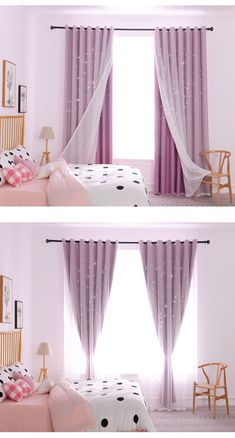 Blackout curtain finished polyester spun hollow star canvas for bedroom living Girl Curtains, Kids Room Curtains, Living Room Decor Curtains, Home Curtains, Room Decor Bedroom, Curtains For Bedroom Window, Modern Curtains, Rideaux Design, Bedroom Canvas