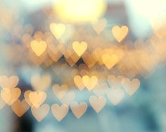 Abstract Photograph - Hearts, Gold and Blue Decor, Teal, Urban - Holding Onto Love No. 2 5x7 on Etsy, $15.00